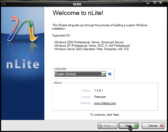 How to Make Your Own Windows XP Lite CD Installer with nLite | Abz's